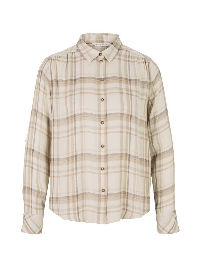blouse checked, beige check
