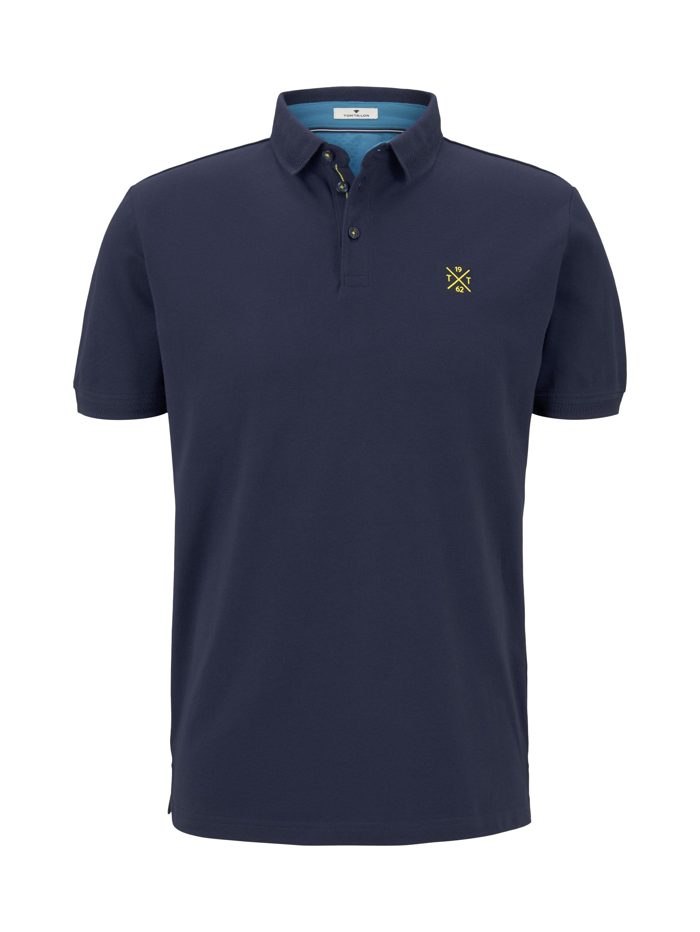 basic polo with details, Black Iris Blue