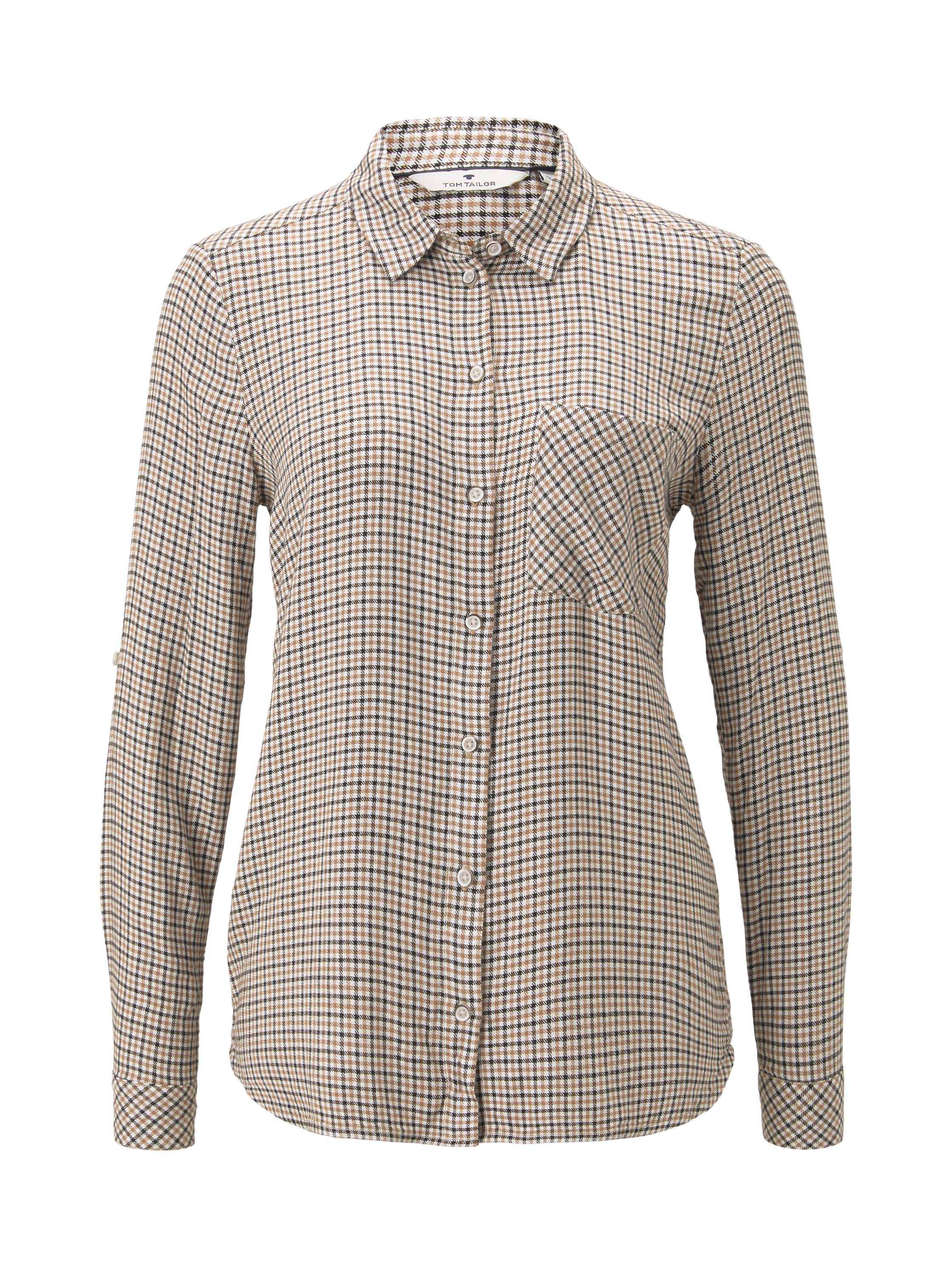 blouse checked, camel small check