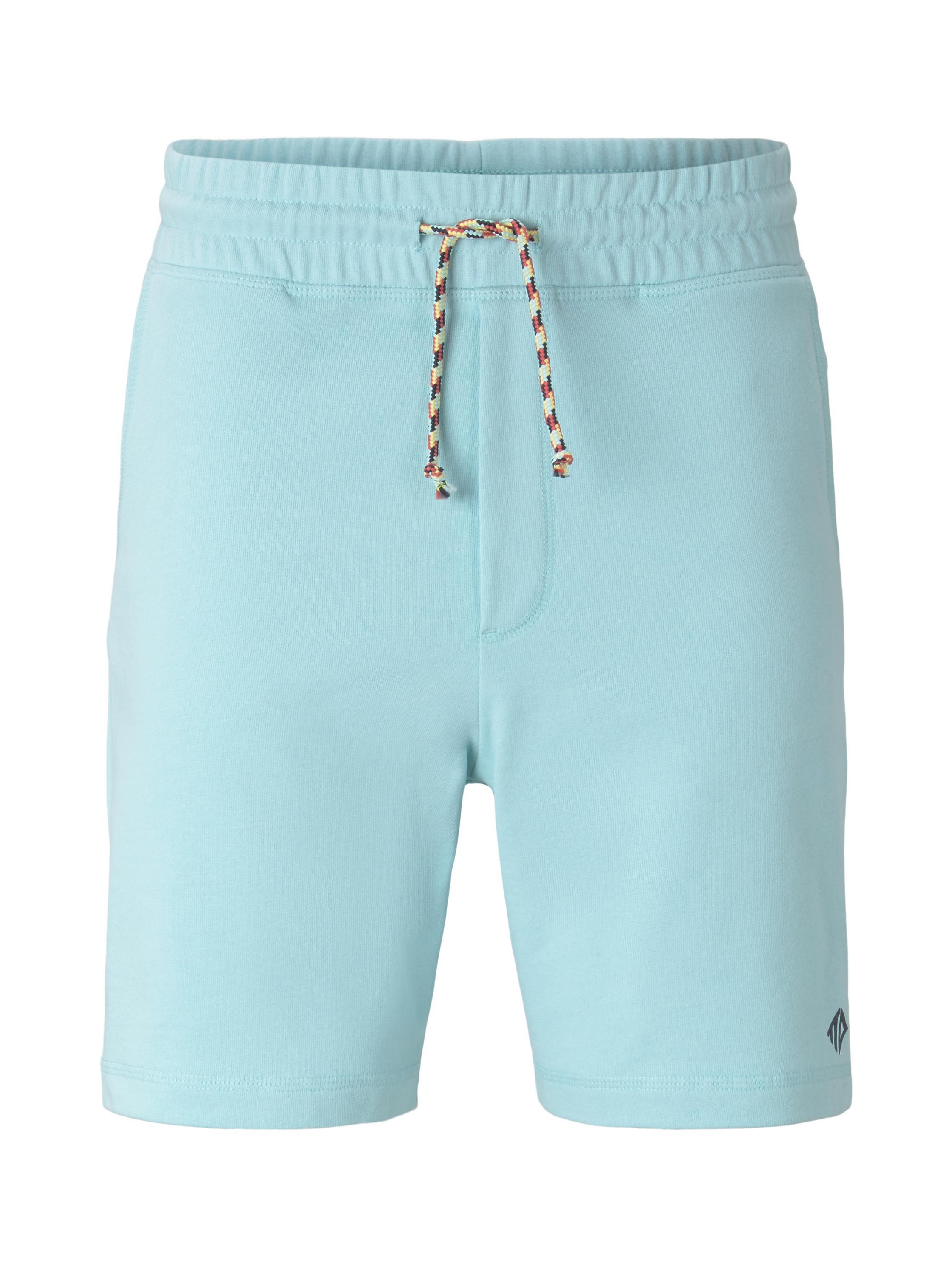 shorts w. print, soft sky blue