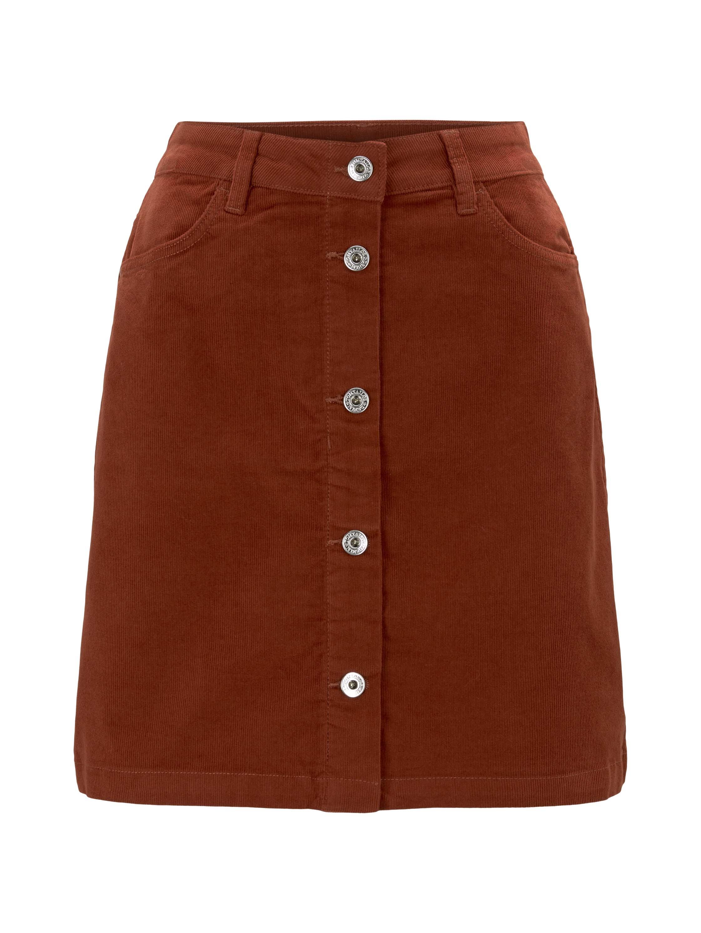 corduroy mini skirt, Rust Orange
