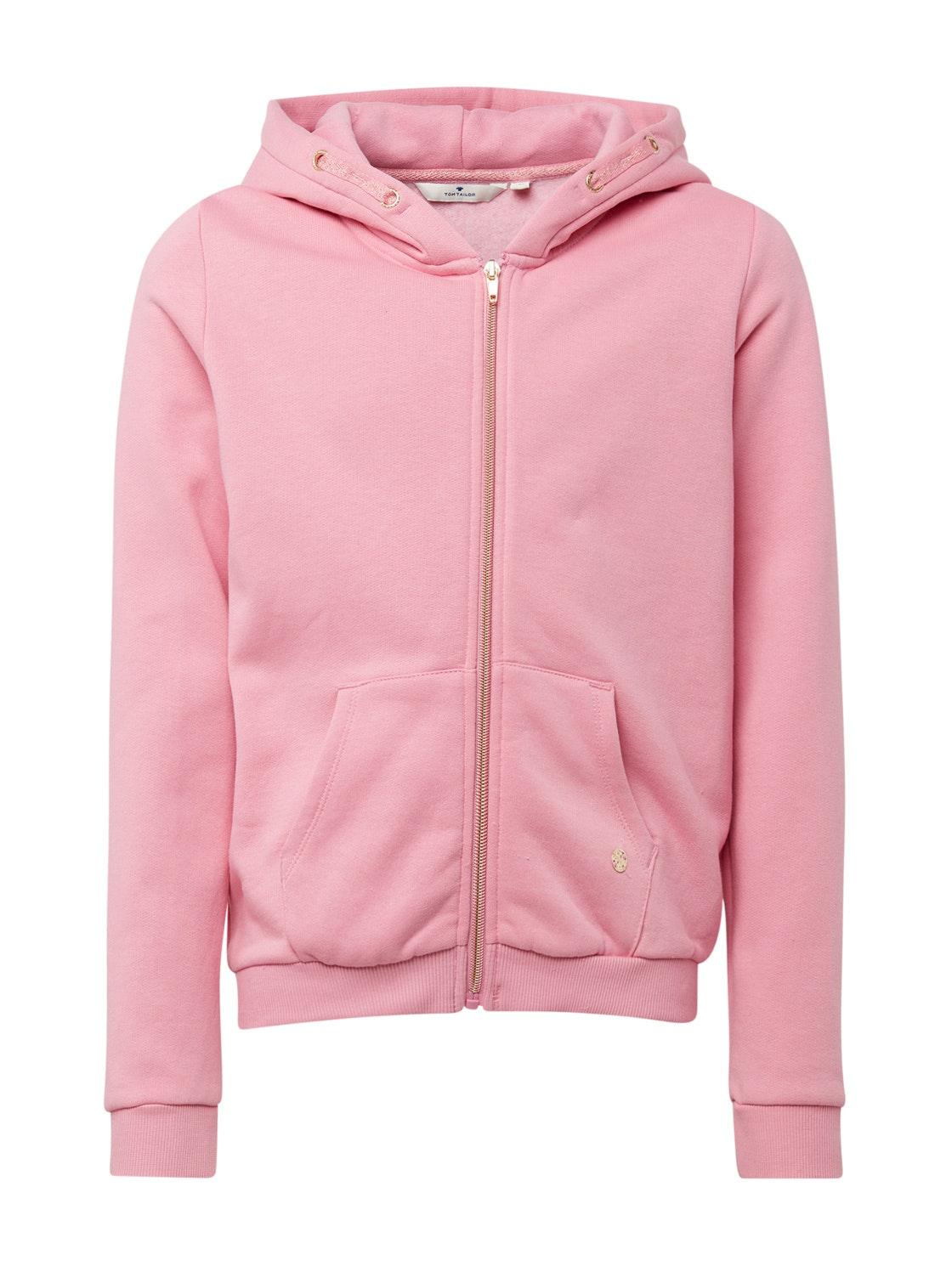 sweatshirt placed print, rosebloom-rose