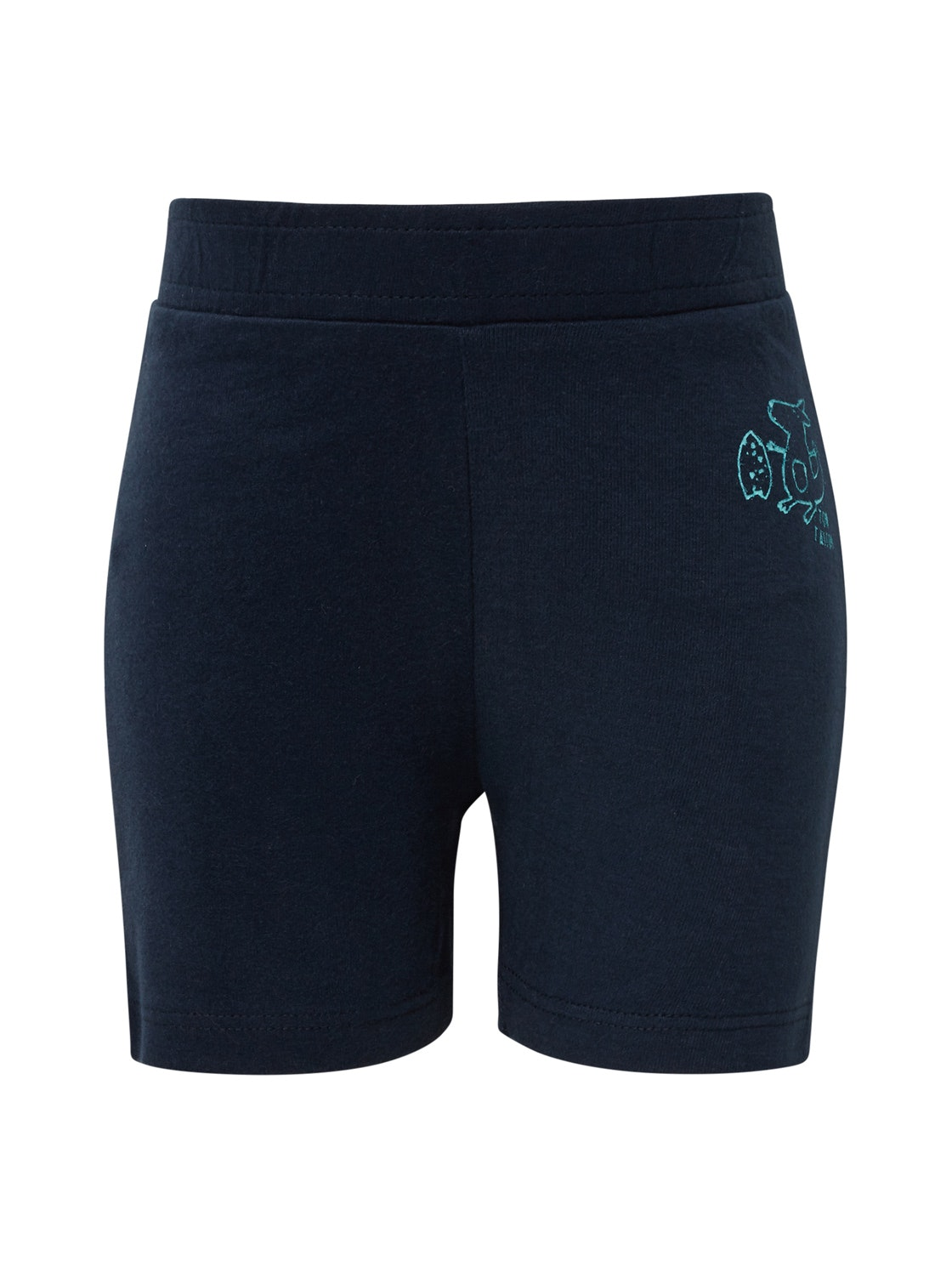 jersey shorts solid, navy blazer-blue