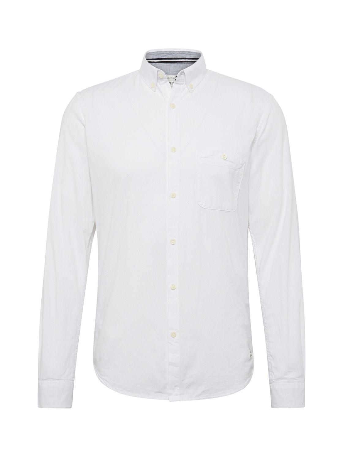 college oxford shirt, White                         White