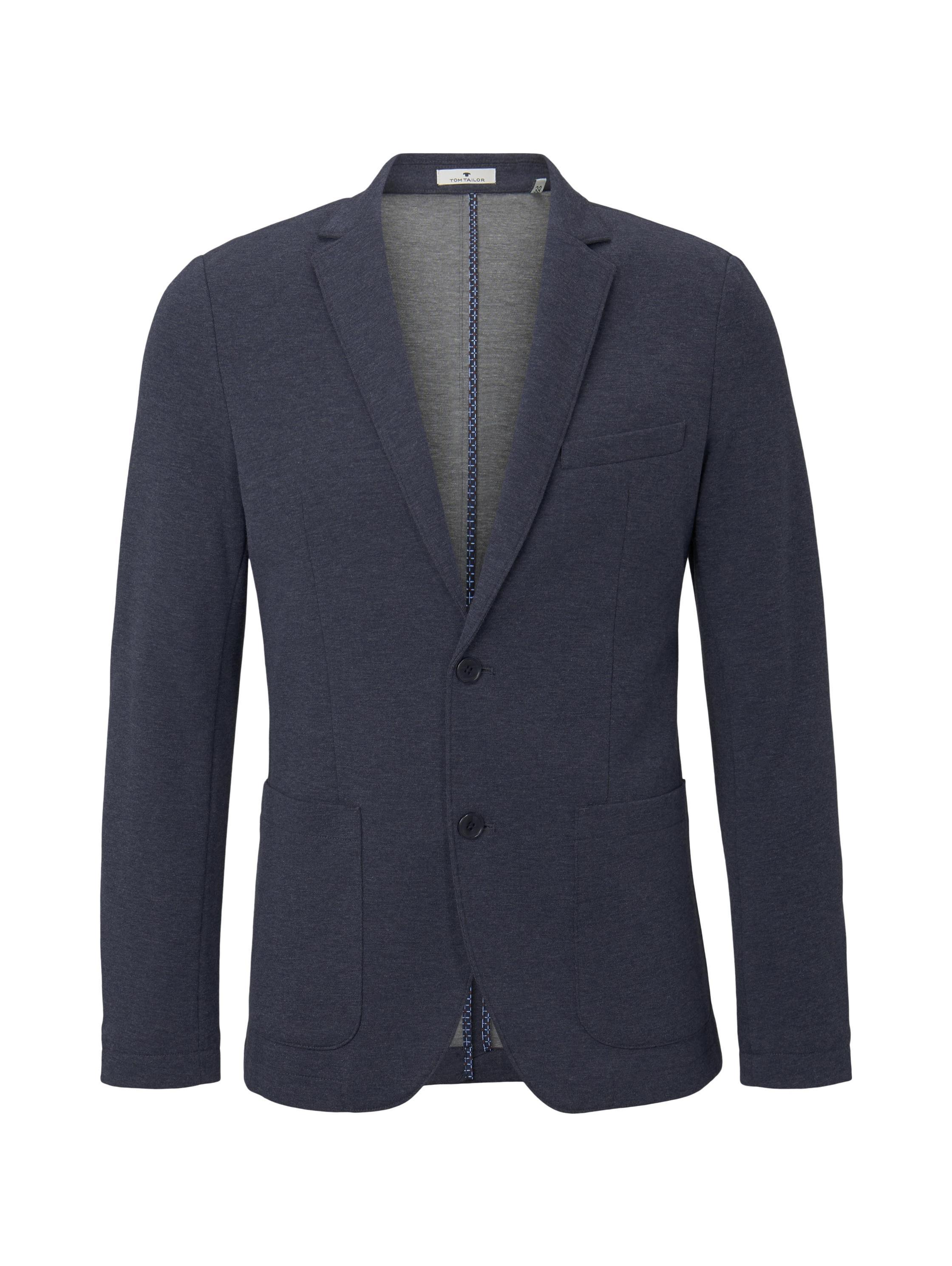 casual  jersey blazer, after dark blue white melange