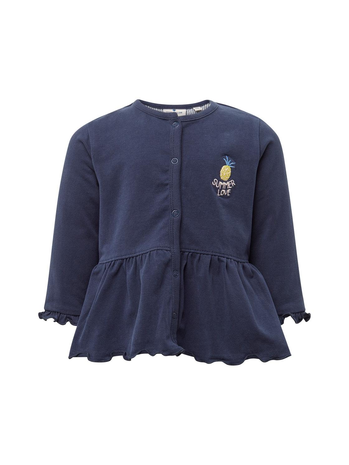 sweatjacket solid, black iris-blue