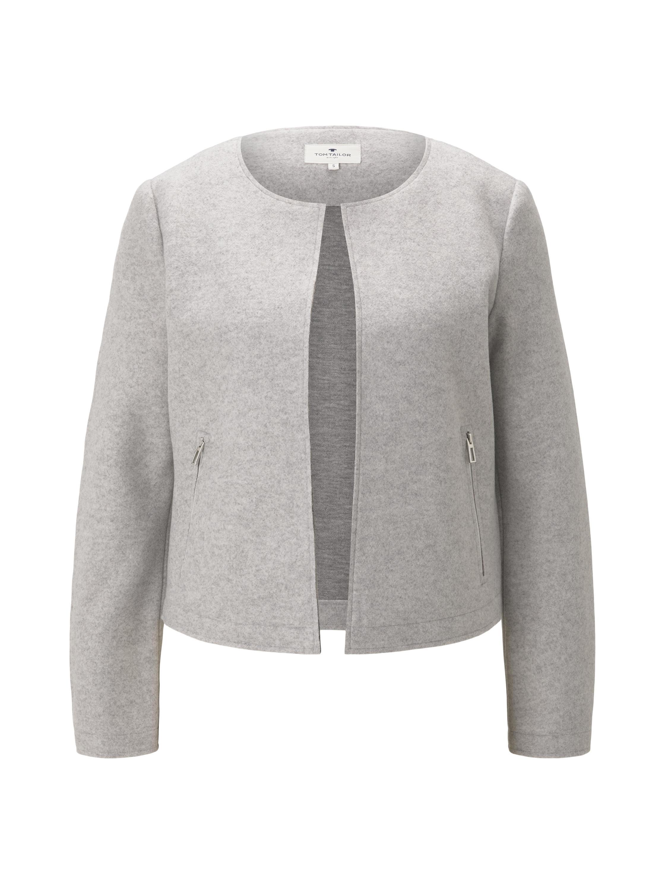 blazer cosy brushed, Silver Grey Melange