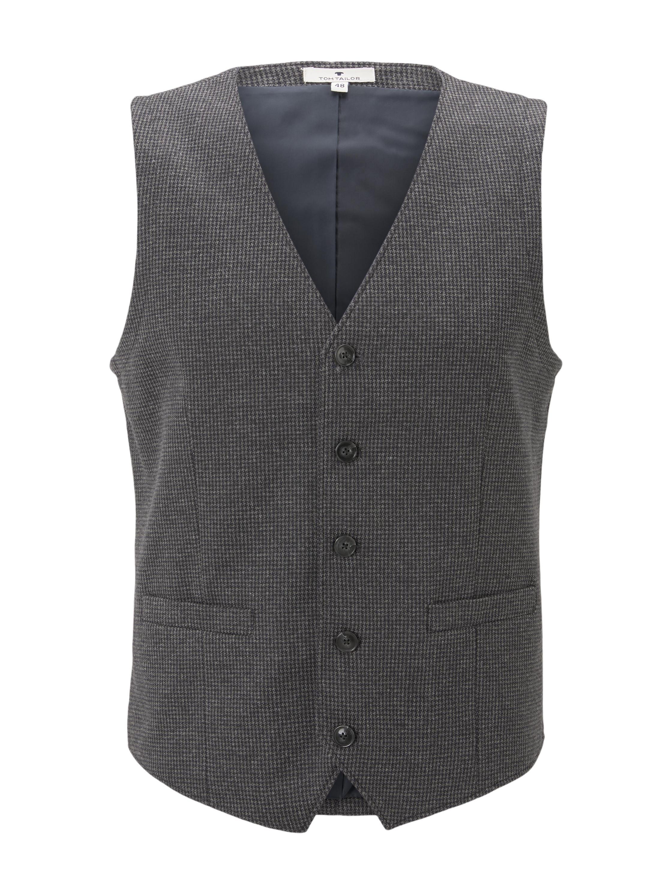 houndstooth jersey vest, navy houndstooth