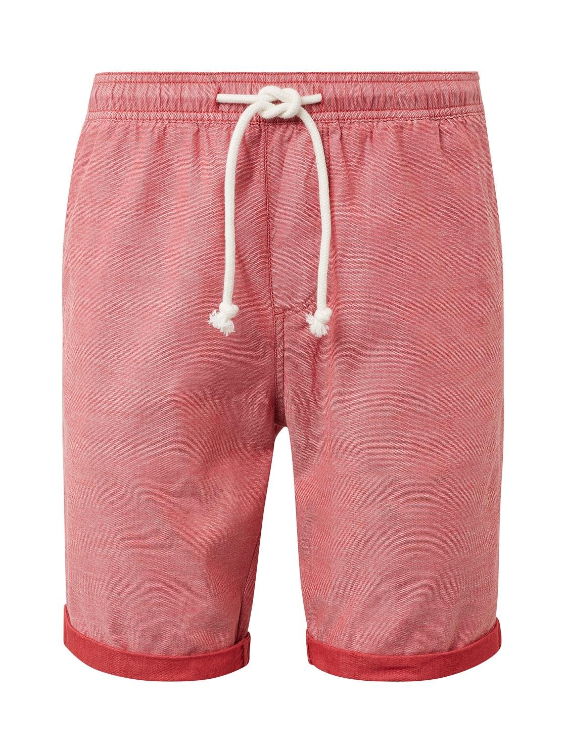 beach shorts yarn dye, red yarndye pique             Red