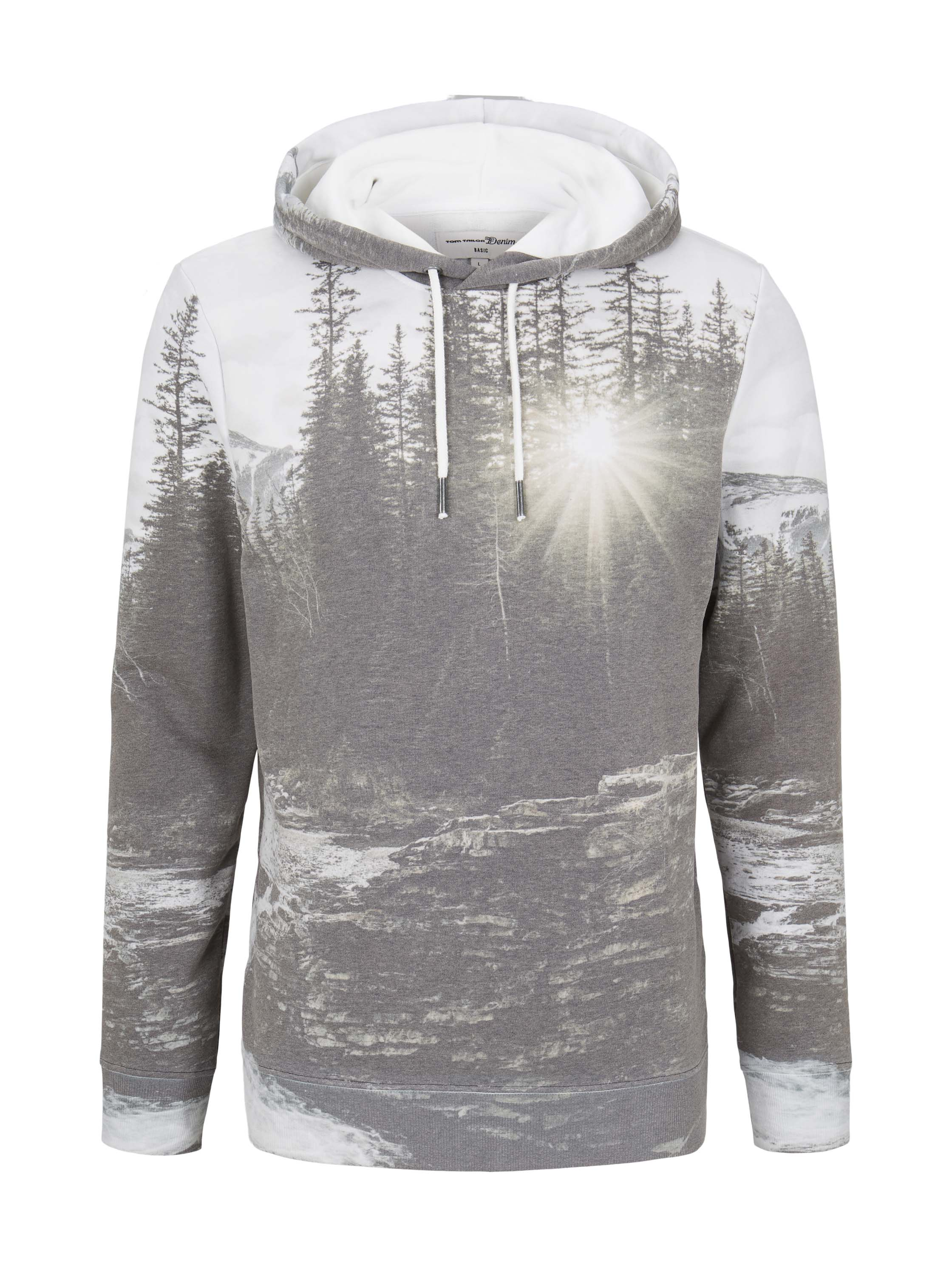 hoody with fotoprint, autumn forest photo print