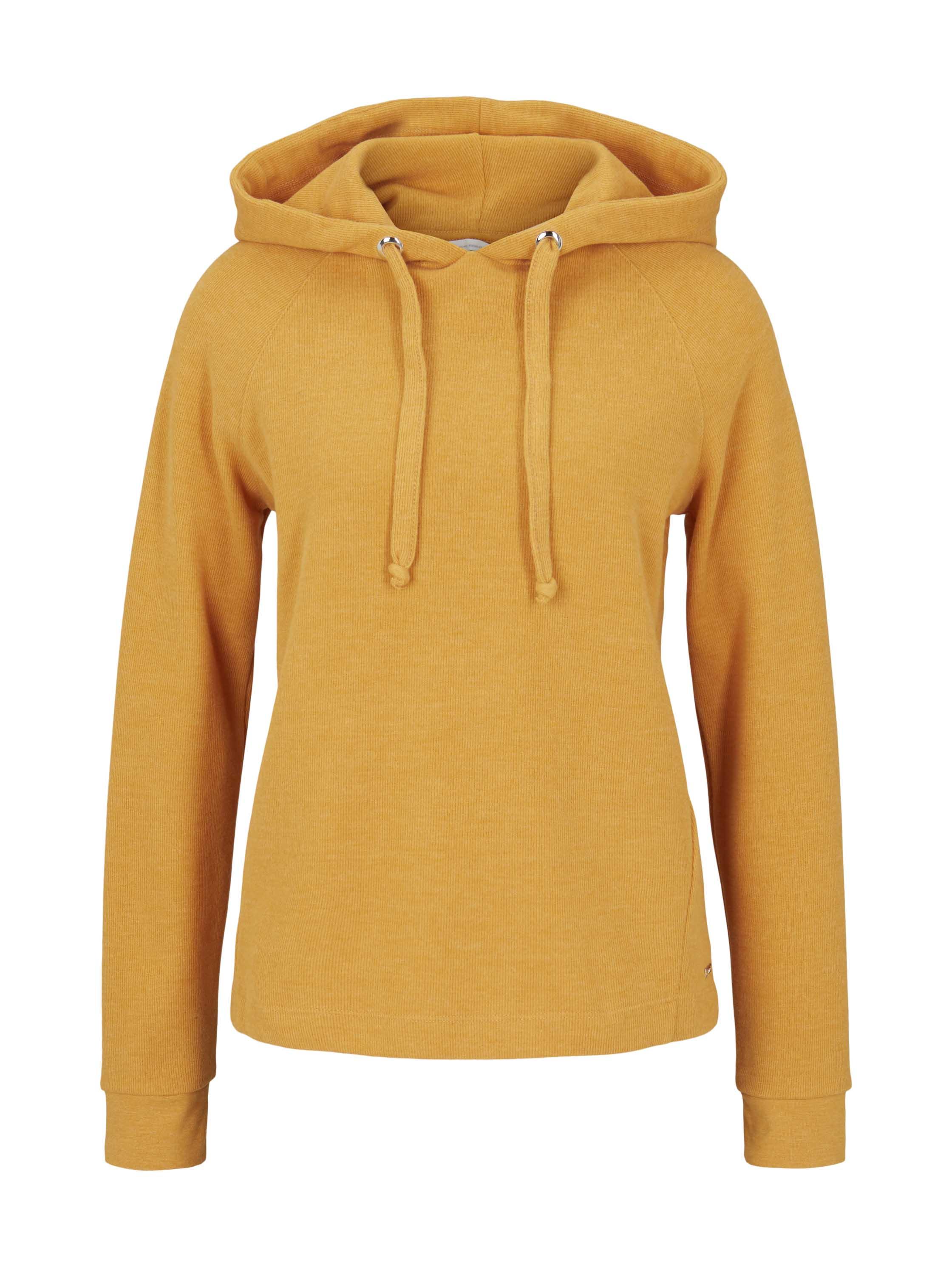 cosy rib hoodie, orange yellow