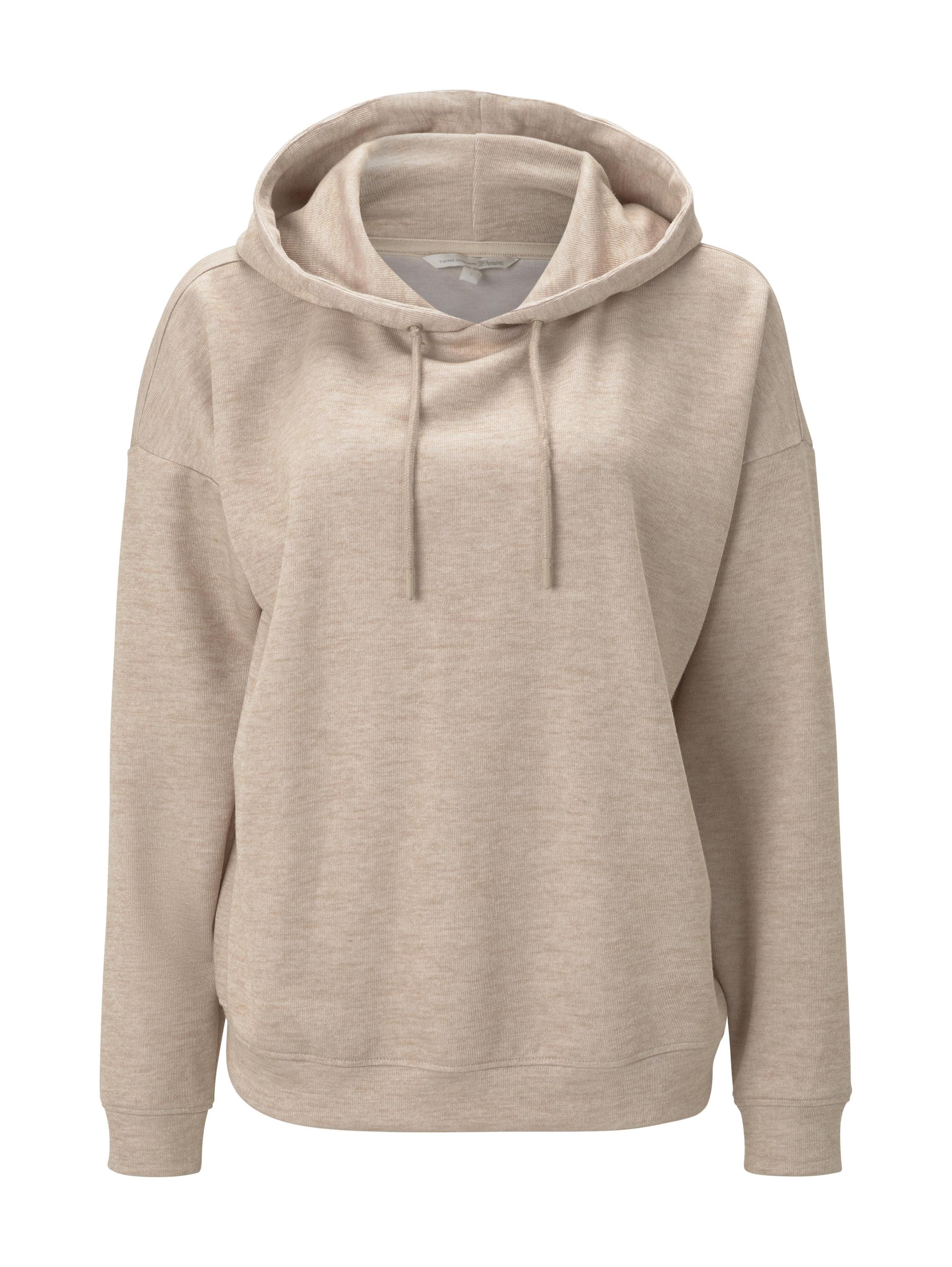 oversized hoodie, cozy beige melange