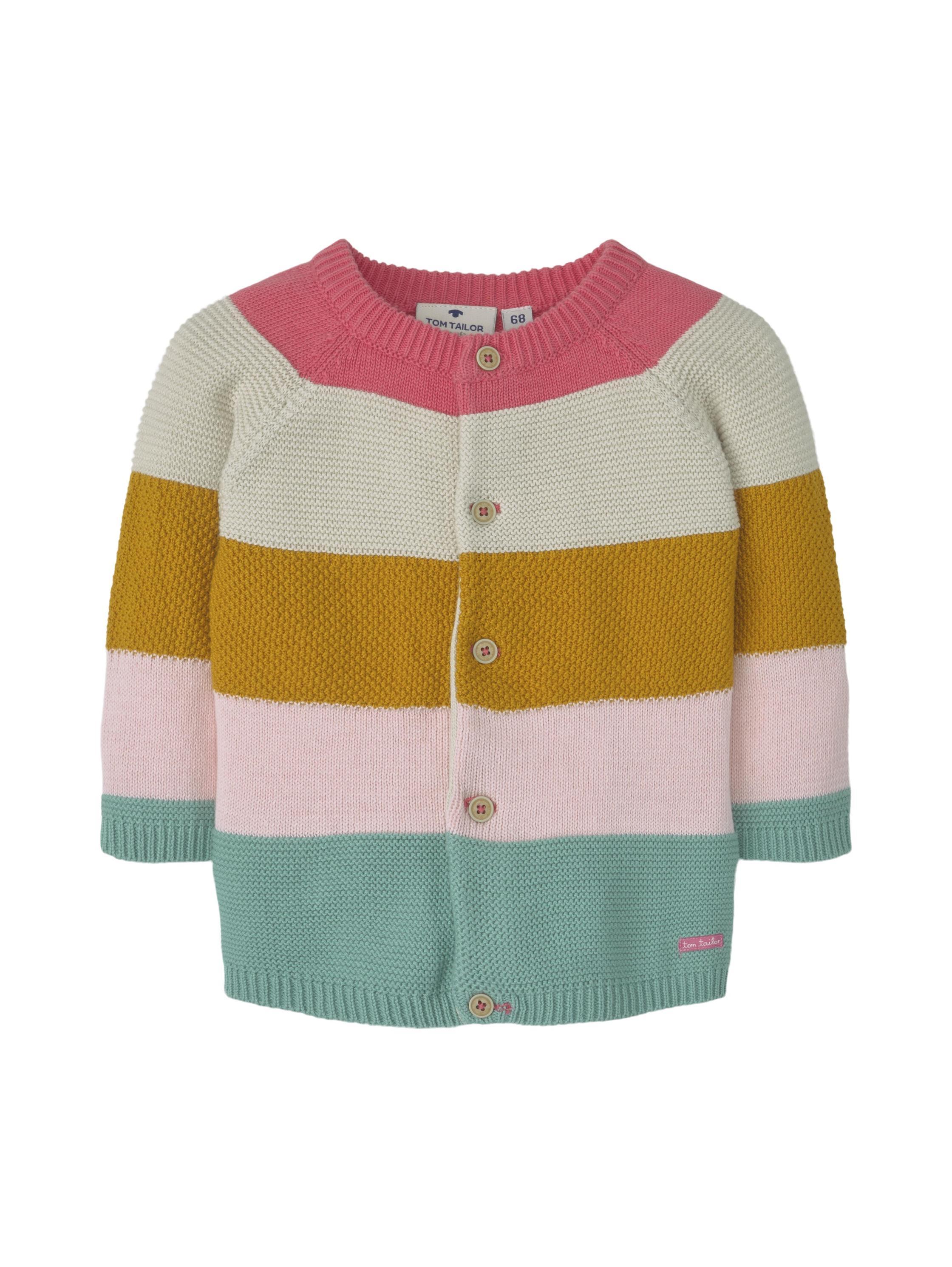 knit cardigan striped, original-multicolored