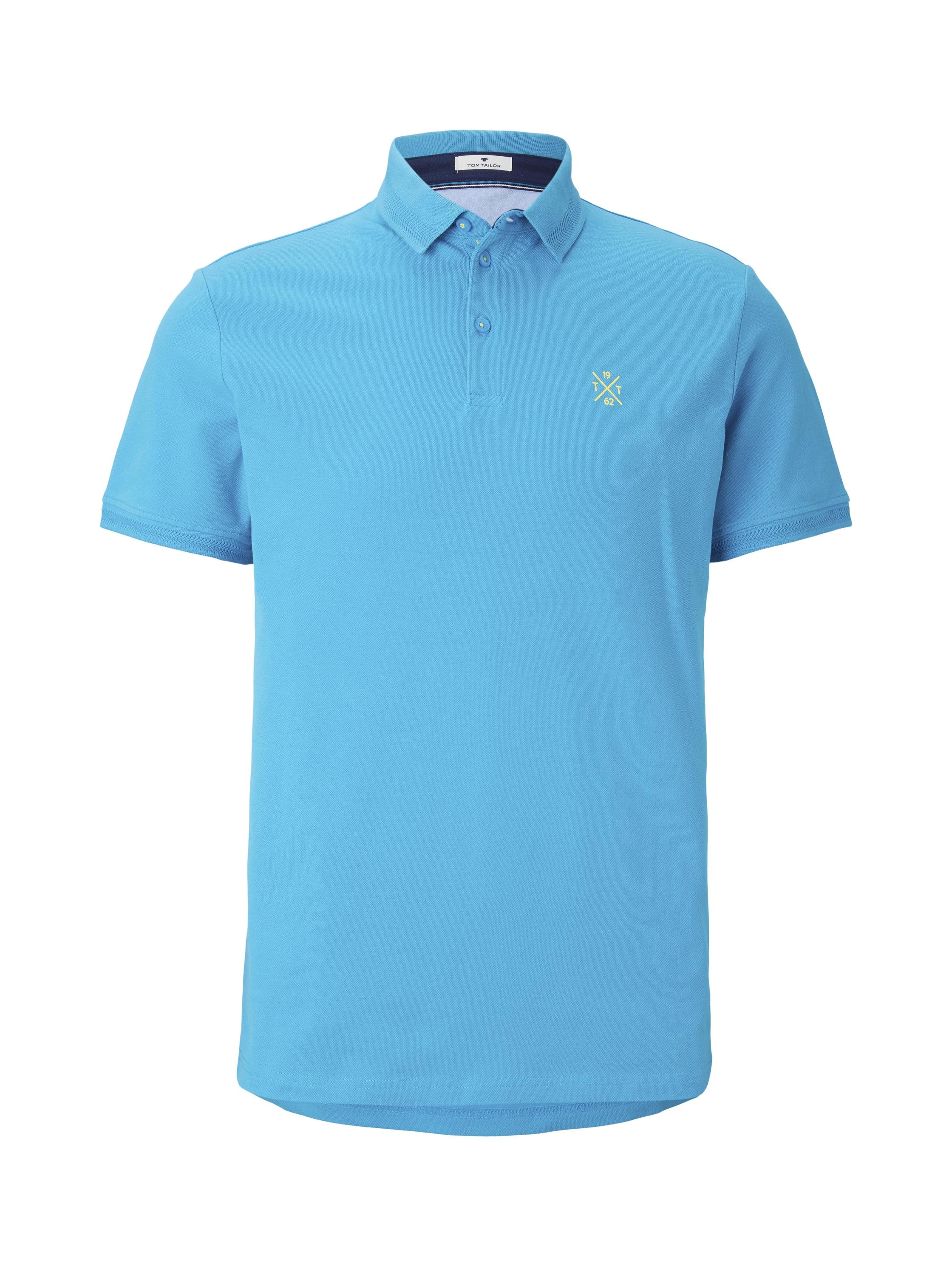 basic polo with details, teal bay green